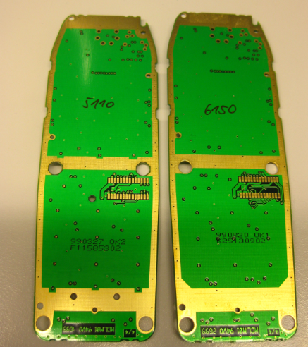 Backside of Nokia 5110 and 6150