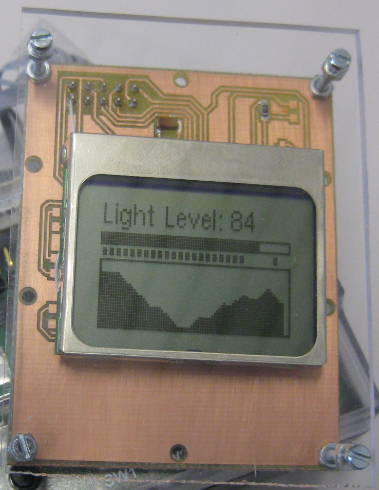 Plexiglass cover with backlight LED display