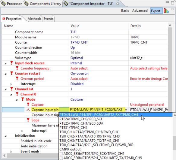 PTD4 as input capture pin