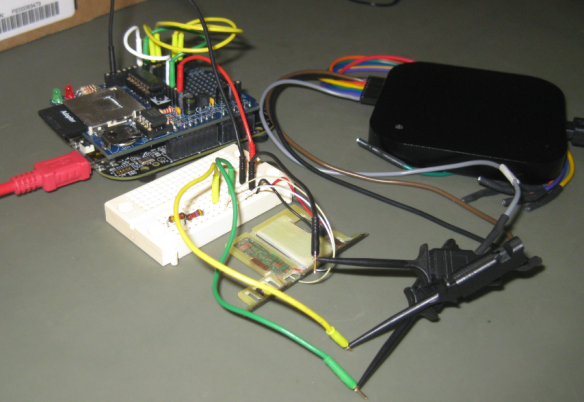 Skimming Device attached to Freedom Board