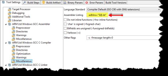 Assembler listing option