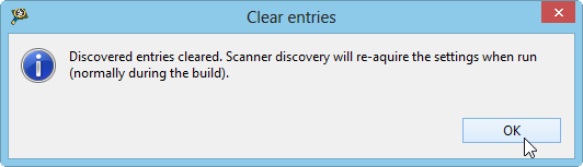 Discovery Entries cleared