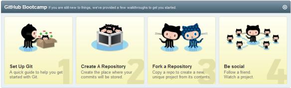 GitHub Bootcamp: 4 simple steps to git