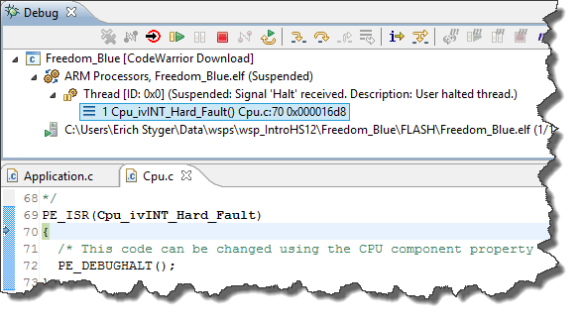 Hard Fault in Debug View