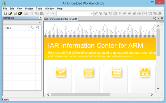 IAR IDE Main Window