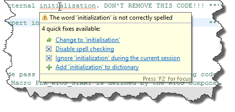 Initialization vs. Initialisation