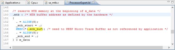 mtb_buf in linker file