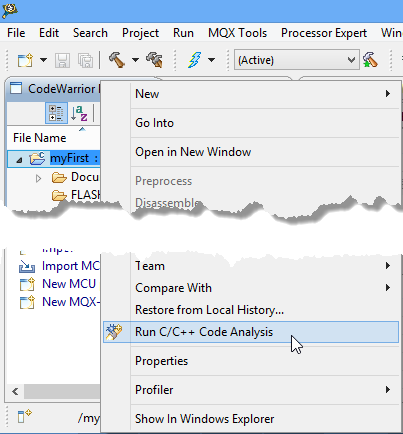Free static code analysis with eclipse mcu on eclipse Execute c code