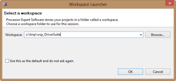 Selecting Workspace