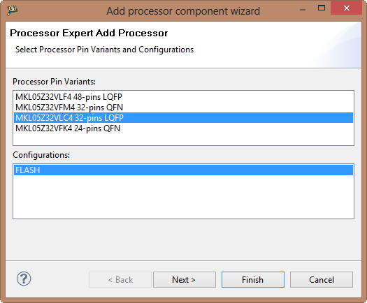 Add Processor Component Wizard