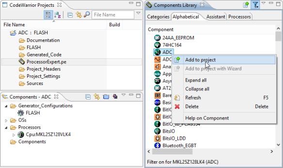 Adding ADC Component