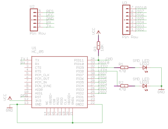 Bluetooth Adapter Schematic