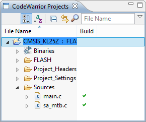 CMSIS CodeWarrior Project