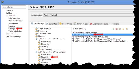 Compiler Directories Setting