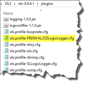 KL25Z profile file inside plugins folder of client