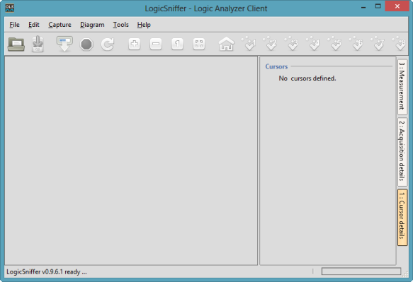 Logic Analyzer Client Main Window