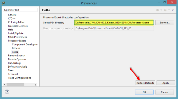 Processor Expert Directory