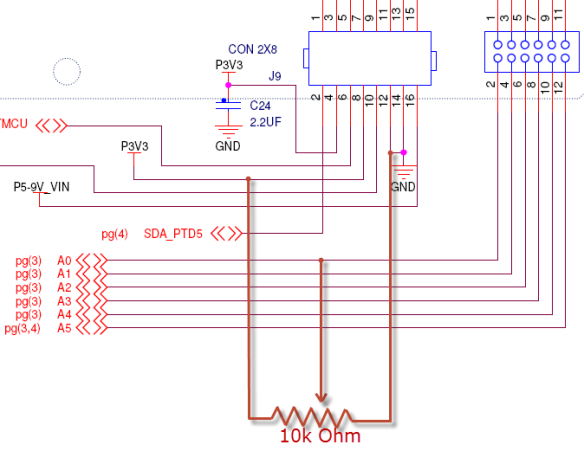 Schematic with 10k Ohm Potentiometer