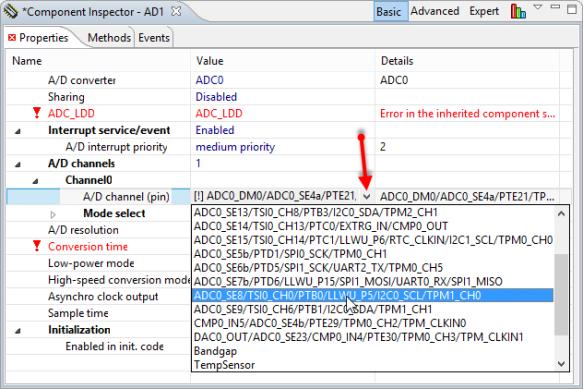 Selecting ADC Pin