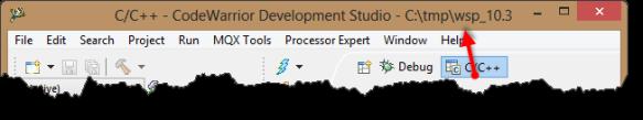 Workspace shown in title bar