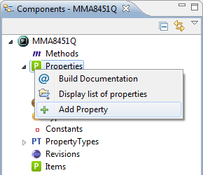 Adding new Property for Link to Component