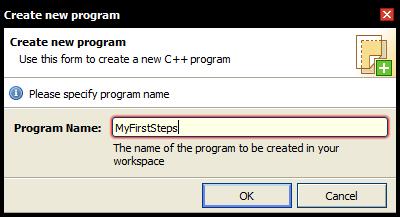 Create new program