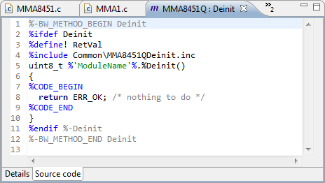 Deinit() driver source code