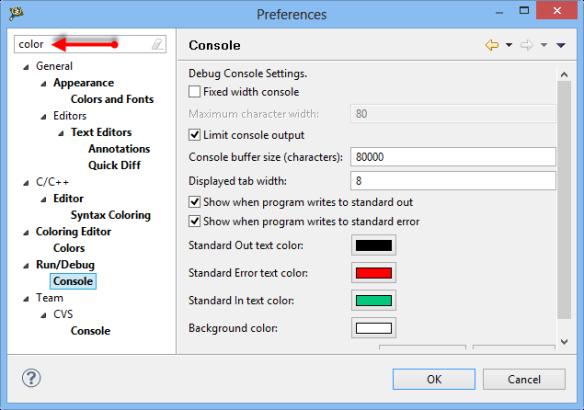 Eclipse Preference Filter