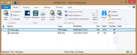 Exporting as Zip file