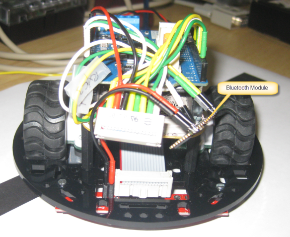 Front of Robot with Bluetooth Module