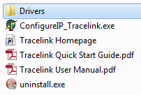 Installed TraceLink Software