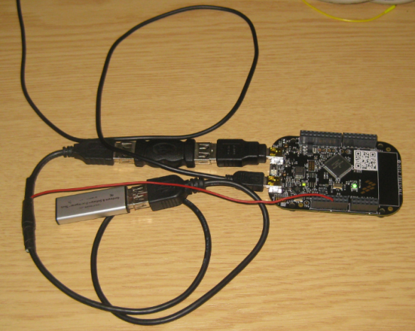 Memory Stick attached to the Freedom Board