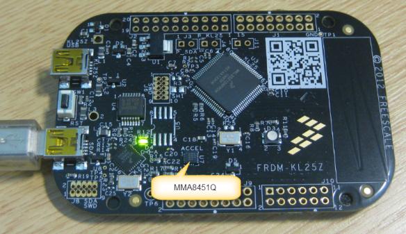 MMA8451Q Accelerometer on the FRDM-KL25Z Board