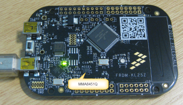 MMA8451Q Accelerometer on the FRDM-KL25Z Board