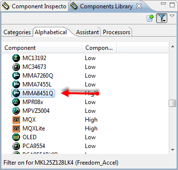 MMA8451Q in Component Library
