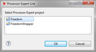 Linking to the Processor Expert Project