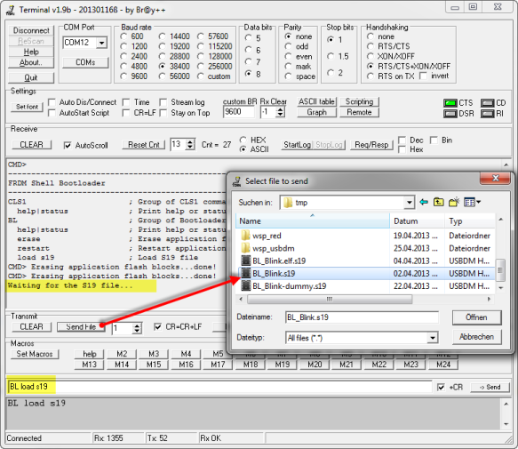 Loading S19 File