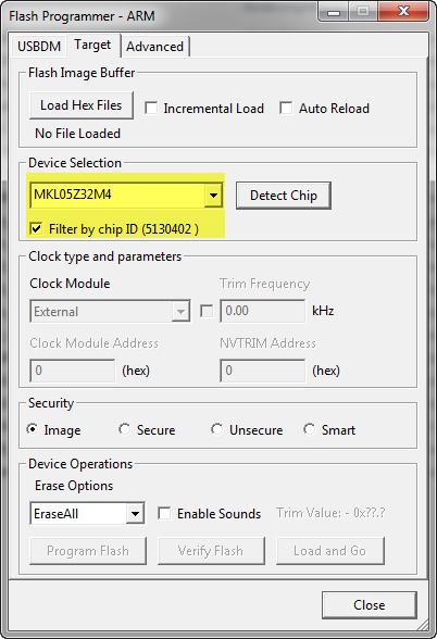 MKL05Z32M4 Detected