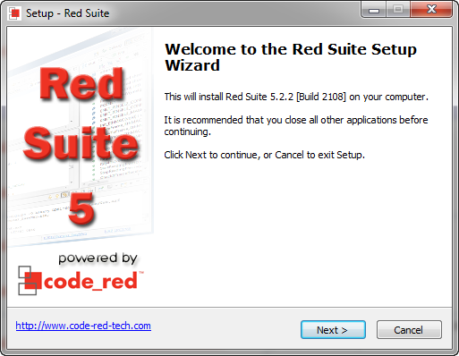 Red Suite 5 Setup