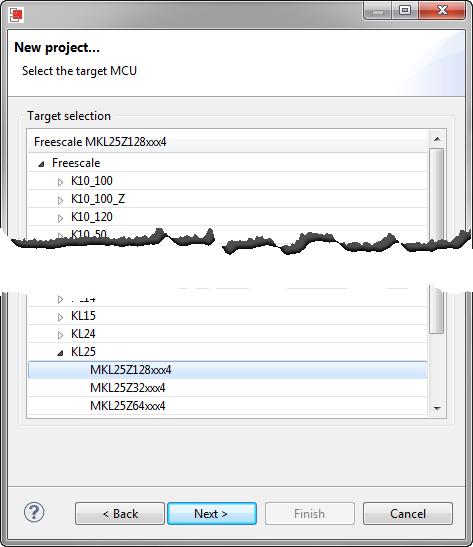 Selecting Target MCU