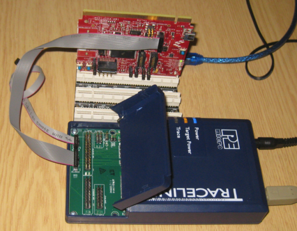 Tracelink connected to TWR-K60F120M Board