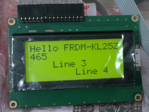 4 Line LCD