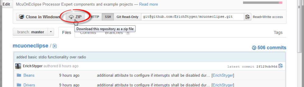 Download as Zip File from GitHub
