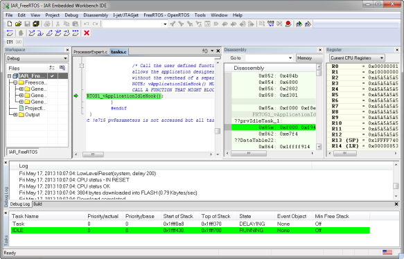 IAR Embedded Workbench IDE debugging with CMSIS-DAP and FRDM-KL25Z