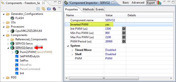 Inverted PWM for Servo2