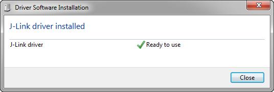 J-Link Driver Installed