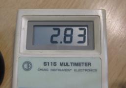Measured 2.8V on P3V3