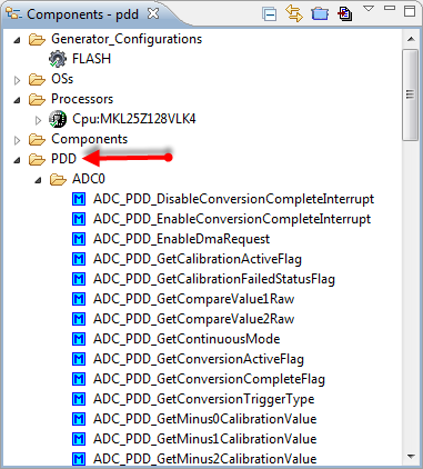 PDD in the Components View
