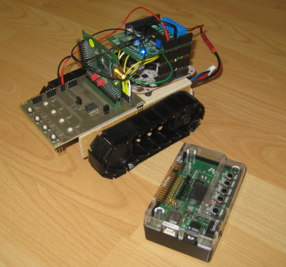 Robot with SRB MC13213 Board
