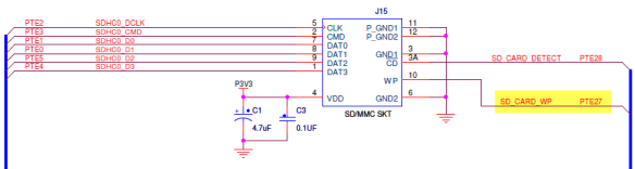 SD_CARD_WP on TWR-K60N512 (Source: Freescale TWR-K60N512 Schematics)